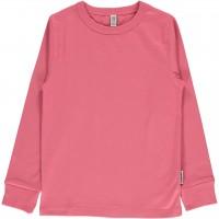 Pinkes uni Langarmshirt