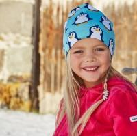 Warme gefütterte Beanie Mütze Pinguin Winter
