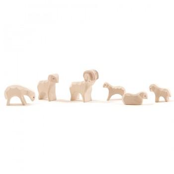 Schafgruppe 6 Teile für Miniatur Weihnachtskrippe