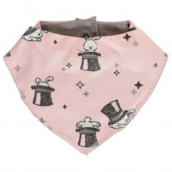 warmes Dreiecktuch Häschen in rosa