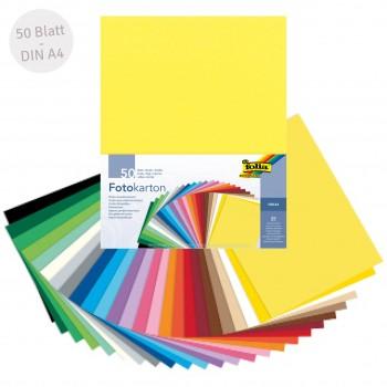 Recycelter Fotokarton bunt DIN A4 50 Blatt