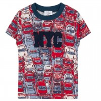 Shirt kurzarm Auto-Druck rot