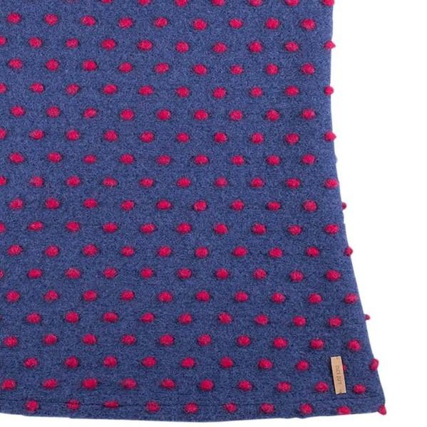 Mädchenkleid aus hochwertiger Merinowolle Indigo lila