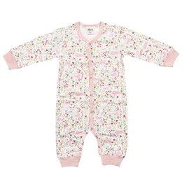 Overall mit soften Bündchen rosa Blumenwiese