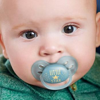 """Schnuller ultra soft """"little Star"""" dunkelblau 6-18 Monate"""