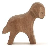 Lamm braun stehend Holzfigur 6 cm hoch