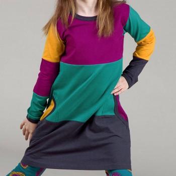 süßes Langarmkleid im Multitown Design