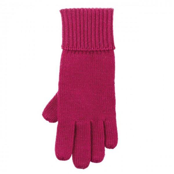 Strick Fingerhandschuhe Himbeere-pink