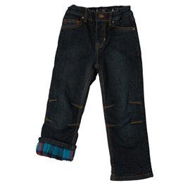 Warme Jungen Jeans Hose innen mit Flanell und umschlagbar