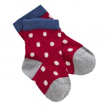 Babysocken Punkte rot