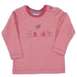 Bio Baby Shirt Vogelreihe Druckknöpfe