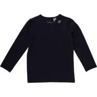 Bio Langarmshirt - tolles dehnbares Basic Shirt - navy
