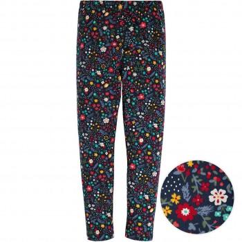 Leggings Blumenprint dunkelblau