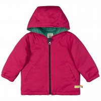 Outdoorjacke Kapuze wattiert in beere