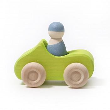 Holzauto kleines Cabrio mit Männchen ab 1 Jahr