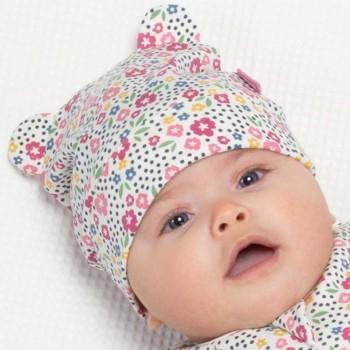 Baby Öhrchen Mütze mit Bündchen