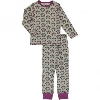 Pyjama mit Bündchen Mädchen Hunde