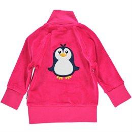 Warme Velours Jacke - kuschelig und warm hinten mit Pinguin