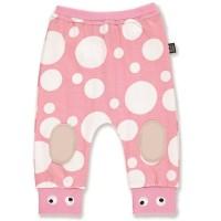Süsse Bio Krabbelhose rosa dots