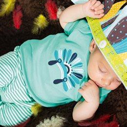Baby T-Shirt türkis Indianer Tilly