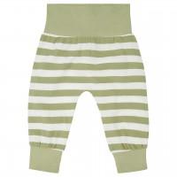 Leichte Babyhose Streifen in oliv-grün