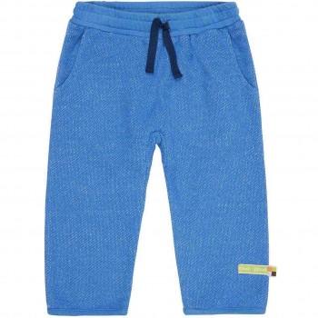 Weiche warme Strickhose in blau melange