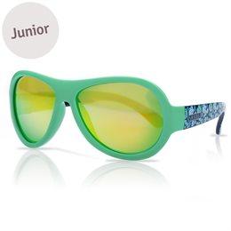 Kinder Sonnenbrille 3-7 schadstofffrei Bläter Print grün