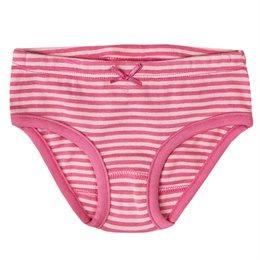 Mädchen Bio Slip rosa gestreift