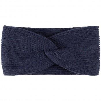 Damen Wolle Kaschmir Stirnband marine