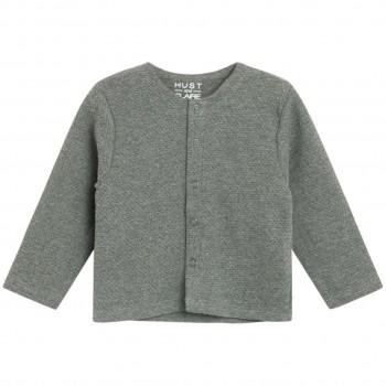 Leichte Jacke mit Knöpfen in grau
