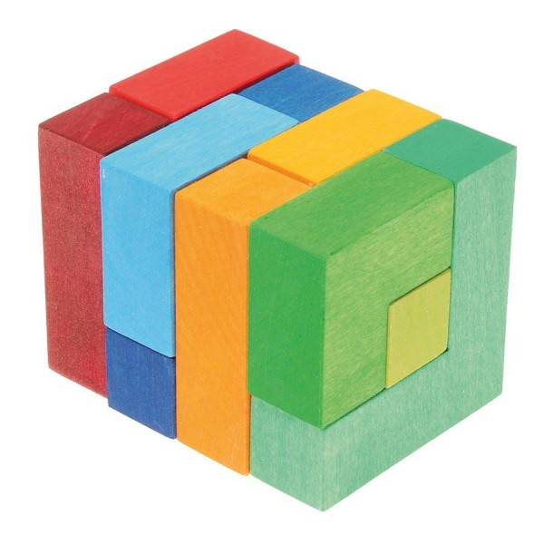 3D räumliches Denkspiel mit Vorlage