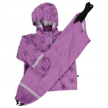 Regenbekleidung lila Sterne ungefüttert