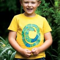 T-Shirt Schlangen Aufnäher gelb
