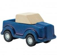 Spielzeug Auto aus Holz ab 3 Jahren blau - 7 cm lang