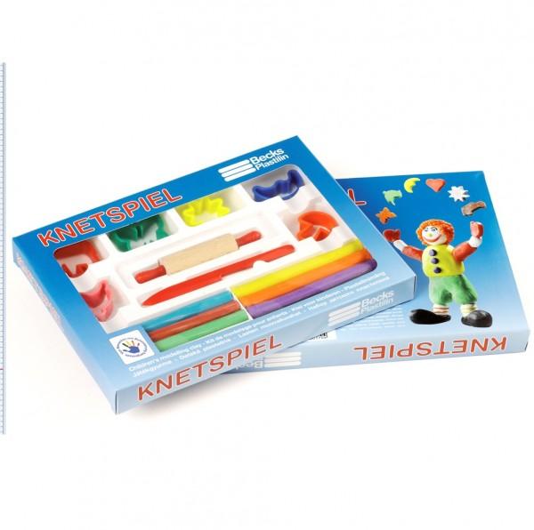 Knetspiel-Set mit Teigrolle & Zubehör