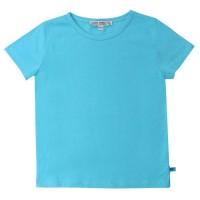 Blaues Basic Shirt uni