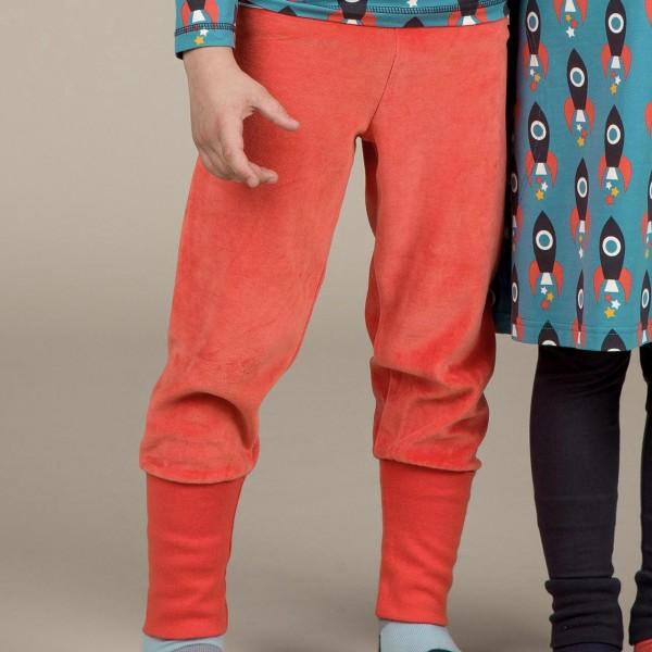 Warme Babyhose Nicki orange mit breitem Bund