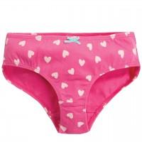 Mädchen Slip Herzchen in rosa