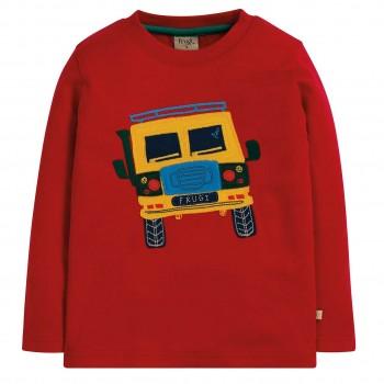 Warmes Interlock Shirt Traktor rot