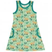 Sommerliches Kleid ohne Arm Füchse in hellgrün
