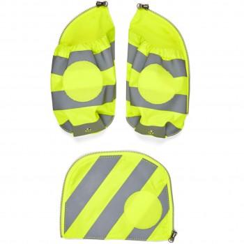 Seitentaschen Zip-Set mit Reflektorstreifen (gelb)