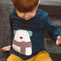Shirt  langarm  Eisbären  navy
