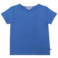 Blaues Shirt kurzarm uni Basic