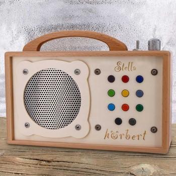 Hörbert GRAVIERT Musikspieler mit Abschaltautomatik MP3