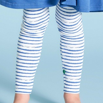 Leichte Leggings Streifen-Muster blau