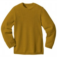 Wolle Basic Pullover in gold