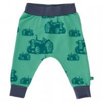 Leichte Krabbelhose Traktoren-Look grün