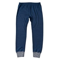 Leggings Wolle Seide blau gestreift