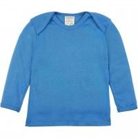 Leichtes Ripp Shirt langarm in blau
