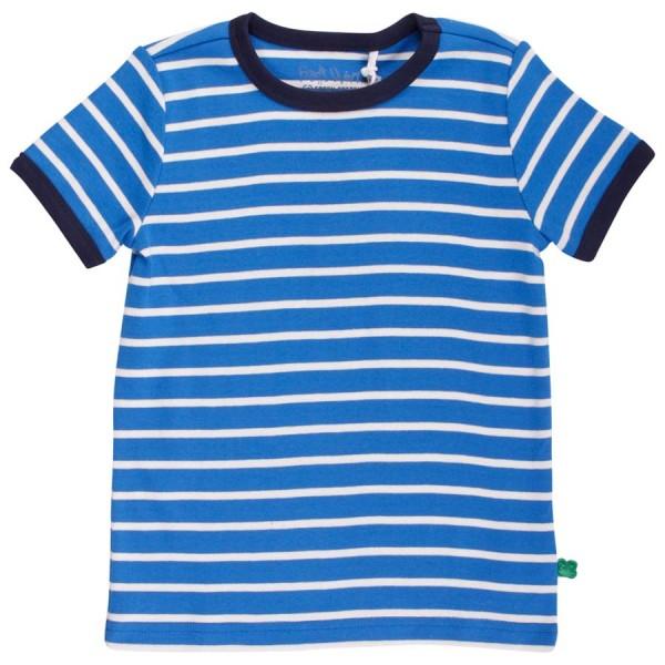 Griffiges T-Shirt gestreift für Mädchen und Jungen